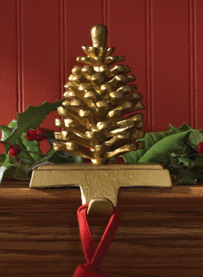 "Stocking Holder - ""Pine Cone Stocking Holder"""