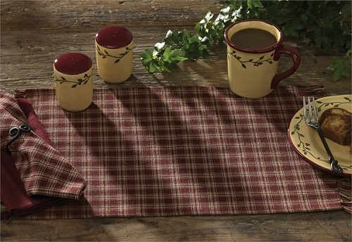 "Sturbridge Placemat<BR>13 x 19""<BR>Wine"