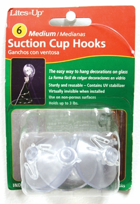 "Suction Cups  -  ""#3 Medium Suction Cups"" - Pack of 6"