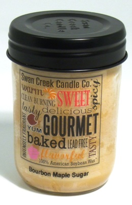 "Swan Creek 12oz Jar Candle - ""Bourbon Maple Sugar"""