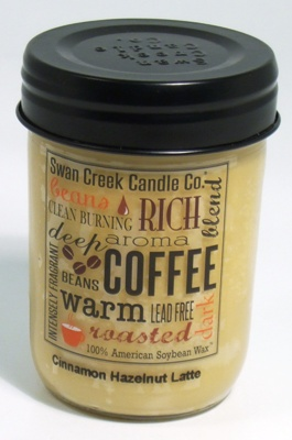 "Swan Creek 12oz Jar Candle - ""Cinnamon Hazelnut Latte"""