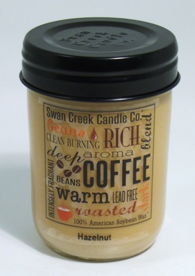 "Swan Creek 12oz Jar Candle - ""Hazelnut"""