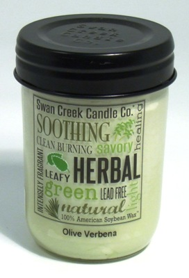 "Swan Creek 12oz Jar Candle - ""Olive Verbena"""