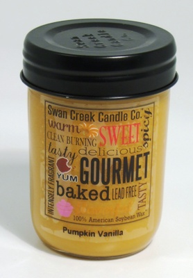 "Swan Creek 12oz Jar Candle - ""Pumpkin Vanilla"""