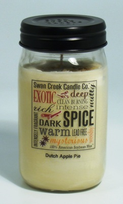 "Swan Creek 24oz Jar Candle - ""Dutch Apple Pie"""