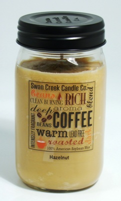 "Swan Creek 24oz Jar Candle - ""Hazelnut"""