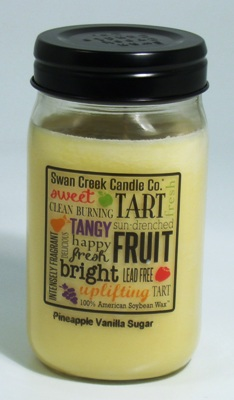 "Swan Creek 24oz Jar Candle - ""Pineapple Vanilla Sugar"""