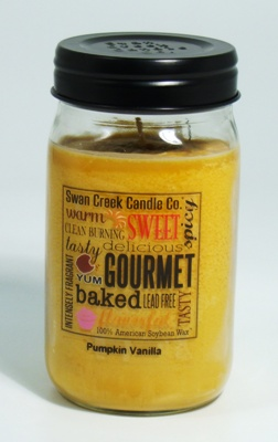 "Swan Creek 24oz Jar Candle - ""Pumpkin Vanilla"""