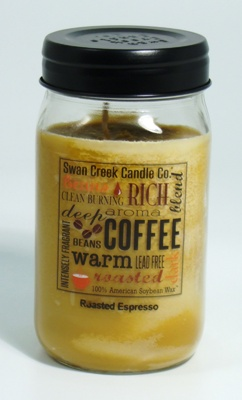 "Swan Creek 24oz Jar Candle - ""Roasted Espresso"""