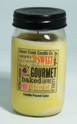 "Swan Creek 24oz Jar Candle - ""Vanilla Pound Cake"""
