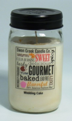 "Swan Creek 24oz Jar Candle - ""Wedding Cake"""