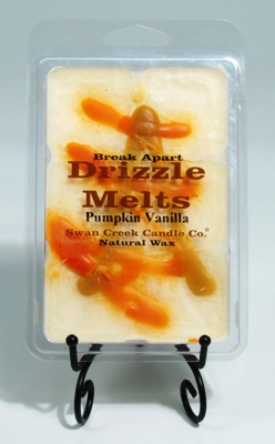 "Swan Creek Candle Drizzle Melts Pack of 6 cubes - ""Pumpkin Vanilla"""