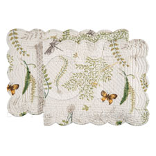 "Table Runner - ""Althea Reversible Quilted Table Runner"" - 14"" x 51"""