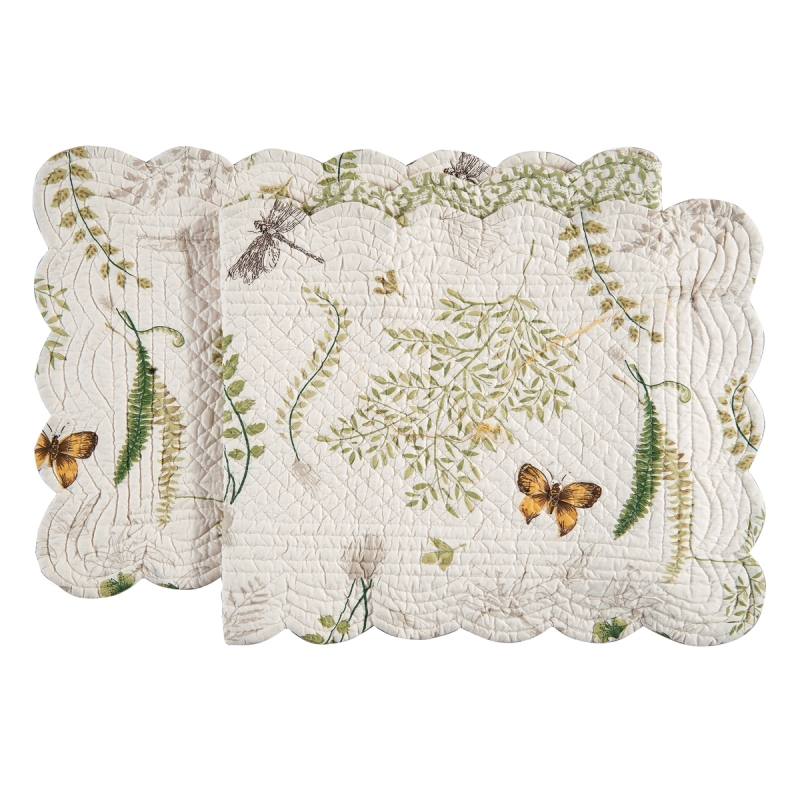 Rectangular Table Runner - Althea - Quilted/Reversible - 51in x 14in