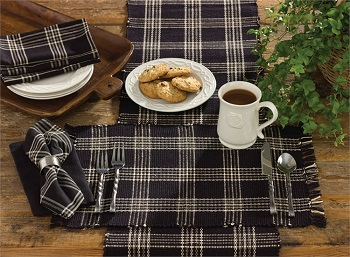 "Table Runner - ""Black Coffee Table Runner"" - 36"""