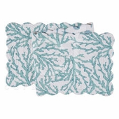"""Table Runner - """"Cora Blue Reversible Quilted Table Runner"""" - 14"""" x 51"""