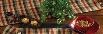 "Table Runner  - ""Grist Mill Table Runner""  - 13"" x 36"