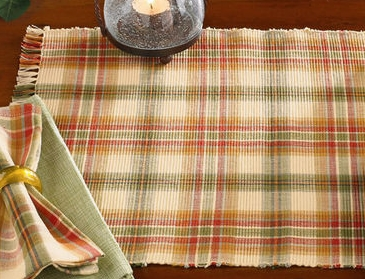 "Table Runner - ""Lemon Pepper Table Runner"" - 13"" x 36"""