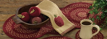 "Table Runner - ""Winesap Braided Table Runner"" - 54"""