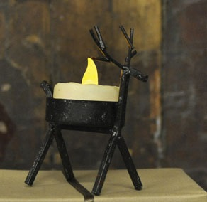 Tea Light Holder - Reindeer Tea Light Holder""