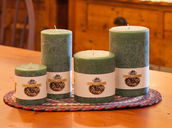 """Textured Colonnade Candles - """"Bayberry  Fragrance"""""""