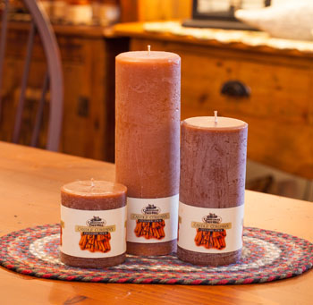 """Textured Colonnade Candles - """"Cinnamon Stick Fragrance"""