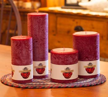 """Textured Colonnade Candles - """"Cranberry Fragrance"""""""