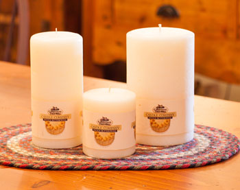 """Textured Colonnade Candles - """"French Buttercreme Fragrance"""""""