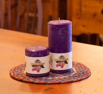 """Textured Colonnade Candles - """"Lilac  Fragrance"""""""