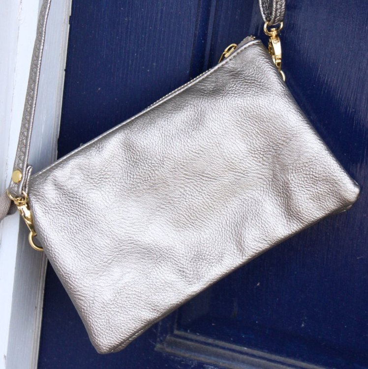 The C.T. Hill Crossbody Purse - Pewter