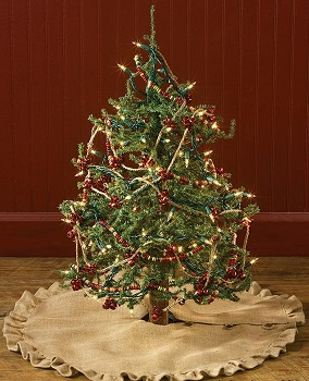 "Tree Skirt - ""Burlap Tree Skirt"" - 24"""