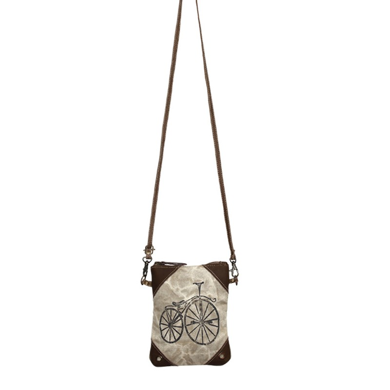 Up-Cycled Canvas Cross Body Bag - Street Bicycle