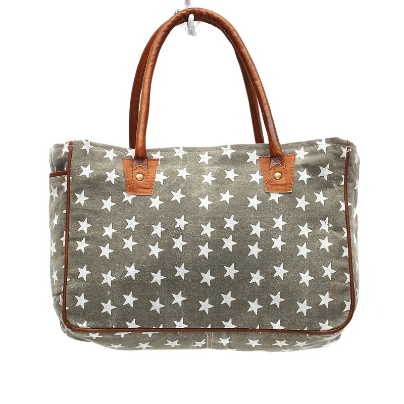 Up-Cycled Canvas Hand Bag - Freedom of Star