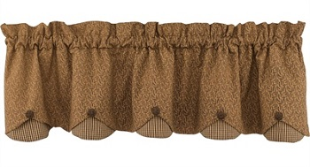 "Valance - ""Shades Of Brown Scallop Valance"""