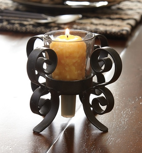 "Votive Candle Holder - ""Bristol Bottle Topper"""