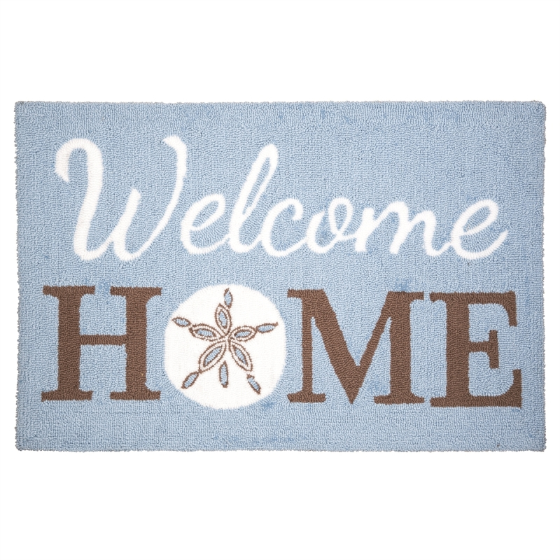 Washable Hooked Rug - Welcome Home Sand Dollar - 34in
