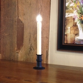 """Window Candle - """"Battery Operated Dual-Intensity Candle Light"""" - Black Base"""