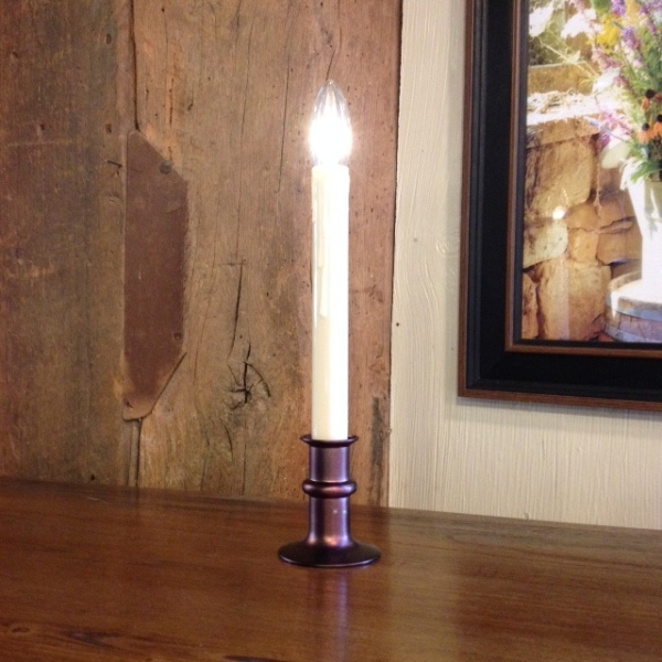 Window Candle - Battery-Operated Dual-Intensity Candle Light - Bronze