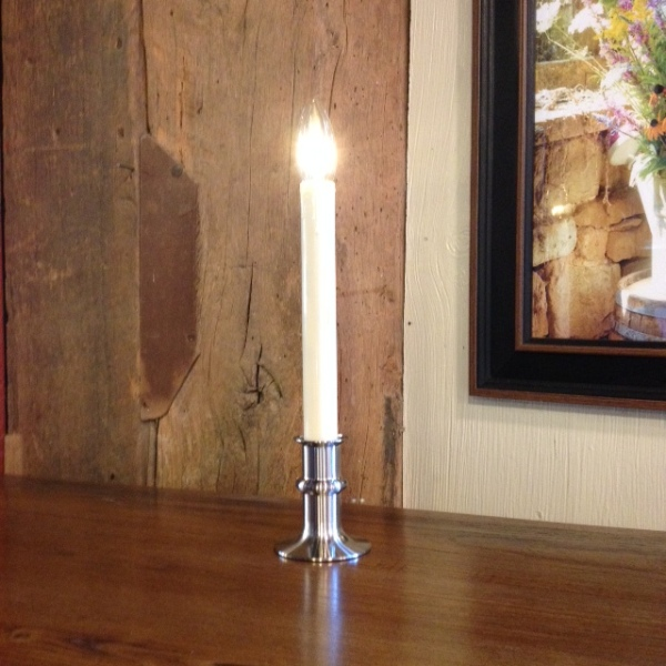 Window Candle - Battery-Operated Dual-Intensity Candle Light - Nickel