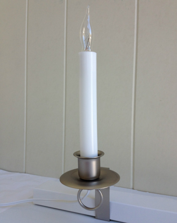 Window Candle Cambridge Electric Light Pewter On Off Switch