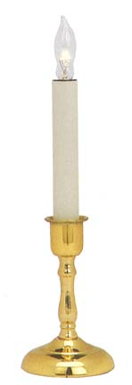 Window Candle - Chesapeake Electric Light - Brass - 6 Hour Timer