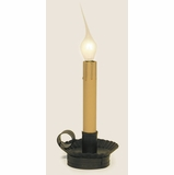 Window Candle - Electric Candleholder Candle Light - 6 inch Rustic Brown