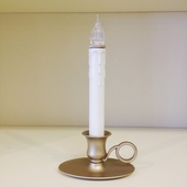 "Window Candle - ""Sensor Battery Operated Williamsburg Candle - Pewter"""