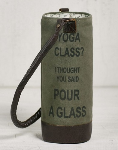 "Wine Bag - ""Mona B Wine Bag - Yoga Class"""