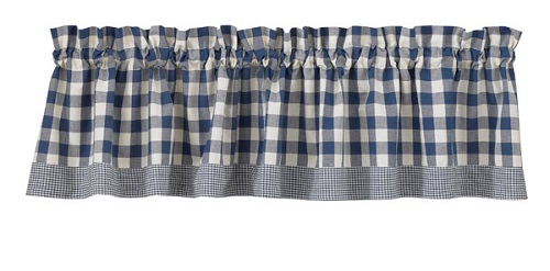 "York Valance - 72 x 14""<BR>Blue"