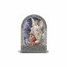 "2.75"" X 2"" STANDING METAL PLAQUE - GUARDIAN ANGEL"