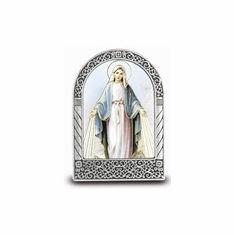 """2.75"""" X 2"""" STANDING METAL PLAQUE - LADY OF GRACE"""