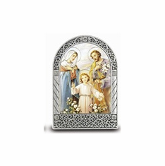 "2.75"" X 2"" STANDING METAL PLAQUE - THE HOLY FAMILY"