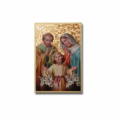 "4""x 6"" MOSAIC PLAQUE - HOLY FAMILY"