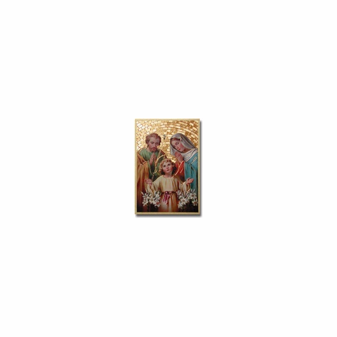 """4""""x 6"""" MOSAIC PLAQUE - HOLY FAMILY"""